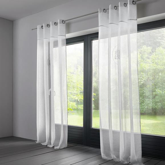 Vorhang Emily aus Leinen ca. 140x245cm - Weiß, MODERN, Textil (140/245cm) - Mömax modern living