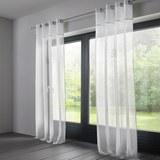 Vorhang in Weiß ca. 140x245 cm 'Emily' - Weiß, MODERN, Textil (140/245cm) - Bessagi Home