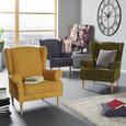 Naslonjač Viola - prirodne boje/žuta, tekstil (82/95/48/85cm) - Mömax modern living