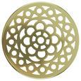 Vaza Cara - zlata/prozorna, Moderno, kovina/steklo (10/15cm)
