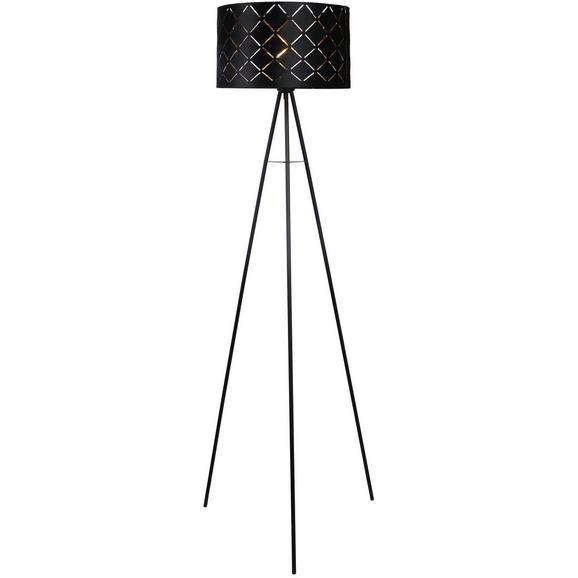 Stehleuchte Evelyn max. 40 Watt - Schwarz, LIFESTYLE, Metall (149cm) - Modern Living