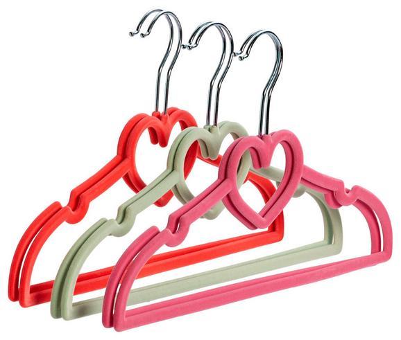 Kinderkleiderbügelset Kids Rosa/pink/mintgrün - Pink/Rosa, Kunststoff (33/18/0,5cm) - Mömax modern living