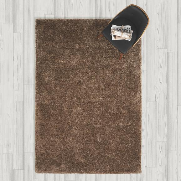 Teppich Hochflor Shaggy ca. 160x230 cm - Braun, MODERN, Textil (160/230cm) - Bessagi Home