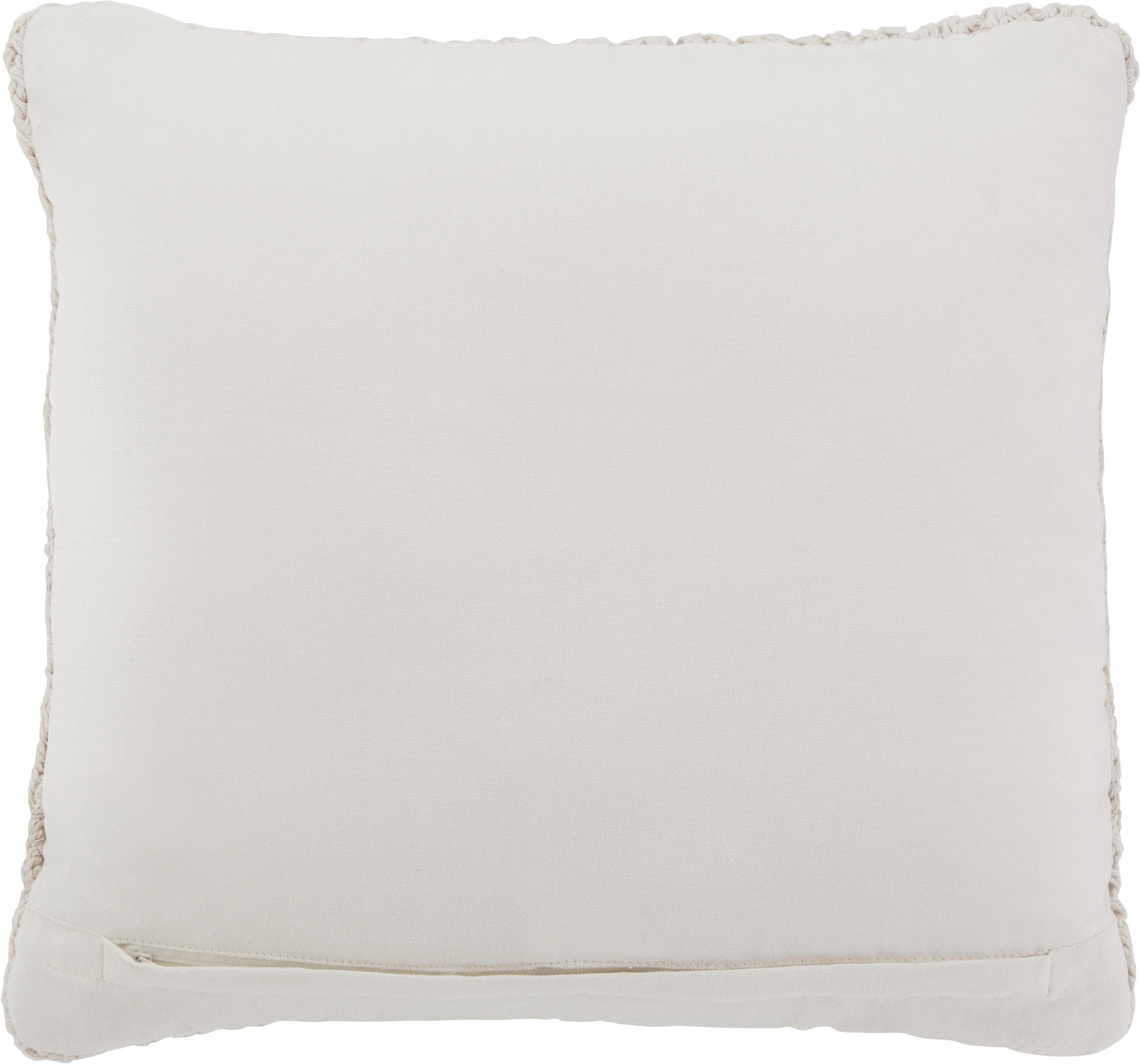 Zierkissen Esra 45x45cm - Naturfarben, MODERN, Textil (45/45cm)
