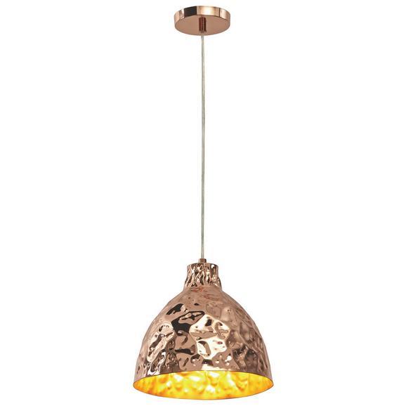 Pendelleuchte Koppar - Goldfarben, MODERN, Kunststoff/Metall (26/150cm) - Bessagi Home