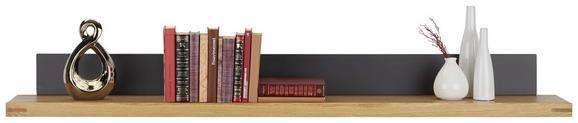 Wandboard Graphit/Eiche - Eichefarben/Graphitfarben, KONVENTIONELL, Holzwerkstoff (160/16/25cm) - Zandiara