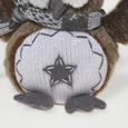 Plüschtier LUCKY -  EULE M. STERN - Multicolor, KONVENTIONELL, Kunststoff/Textil (16/9/17cm) - Bessagi Kids