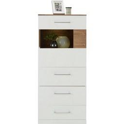 Kommode in Weiß Hochglanz - Weiß, MODERN, Holz (60/137/40cm) - Premium Living