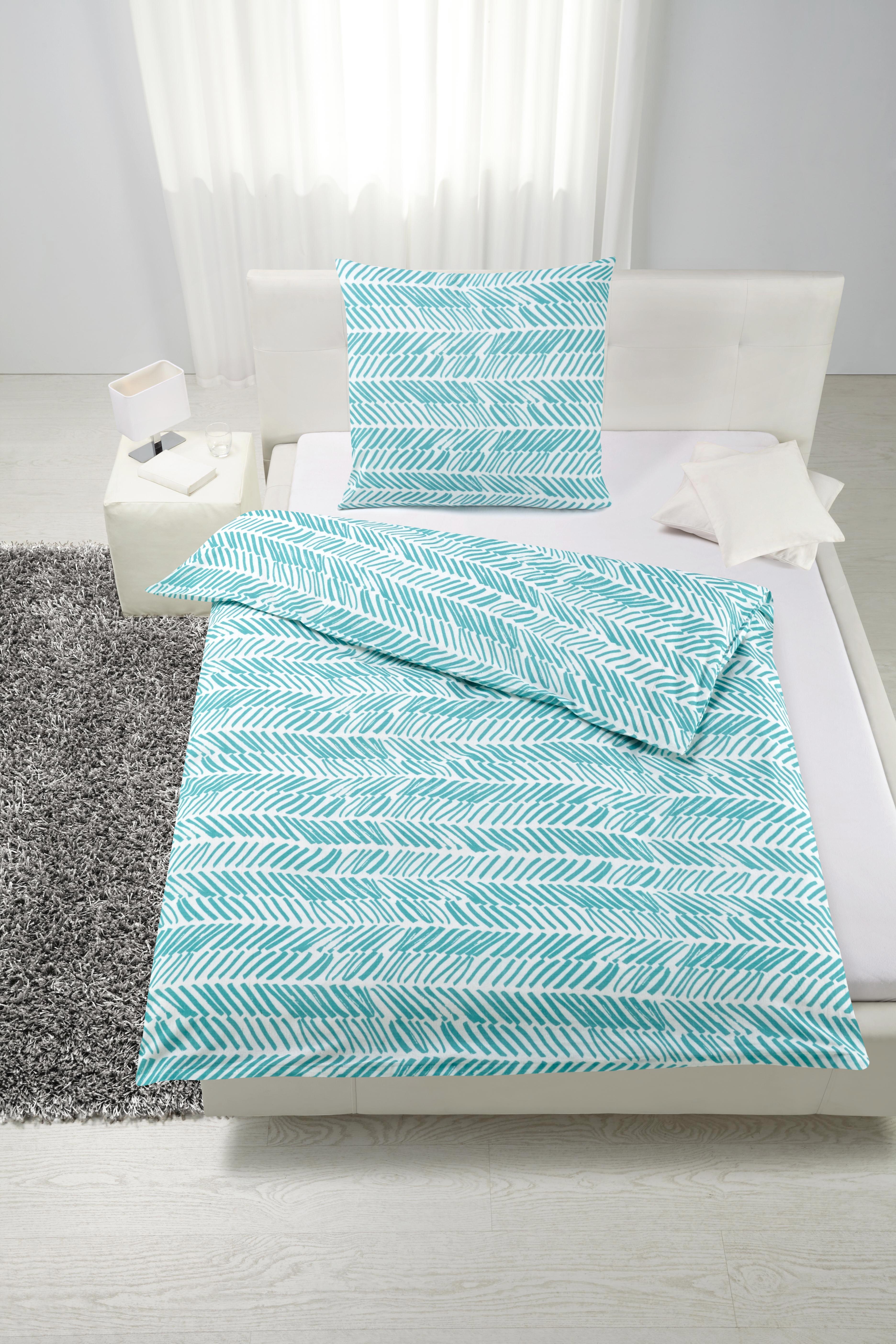 Bettwäsche Nadine ca. 135x200cm - Blau/Grau, Textil (135/200cm) - BASED