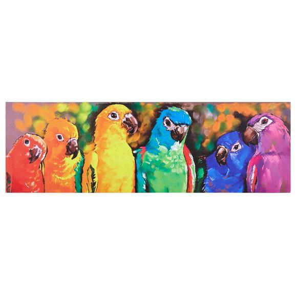 Bild Parrot Multicolor ca.140x45x4cm - Blau/Rot, MODERN, Holz/Textil (140/45/4cm) - Bessagi Home