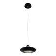 LED-Hängeleuchte max. 10 Watt 'Leah' - Schwarz, MODERN, Glas/Kunststoff (21/21/180cm) - Bessagi Home