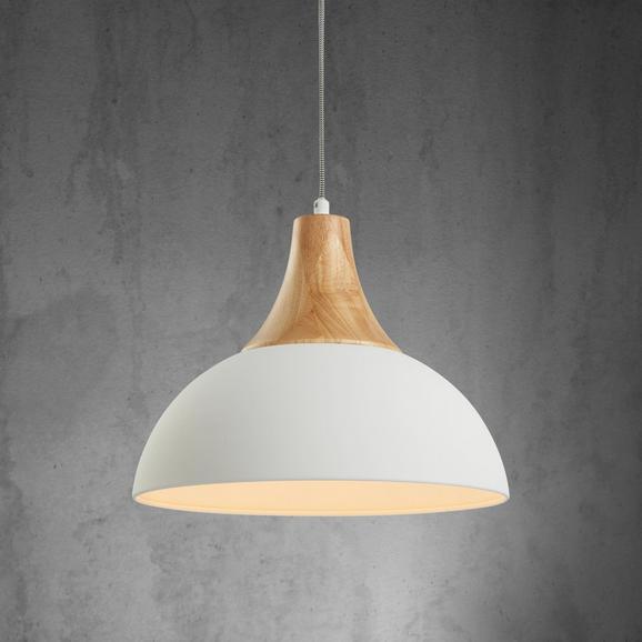 Pendelleuchte Fiona - Weiß, MODERN, Holz/Metall (37,5/120cm) - Mömax modern living