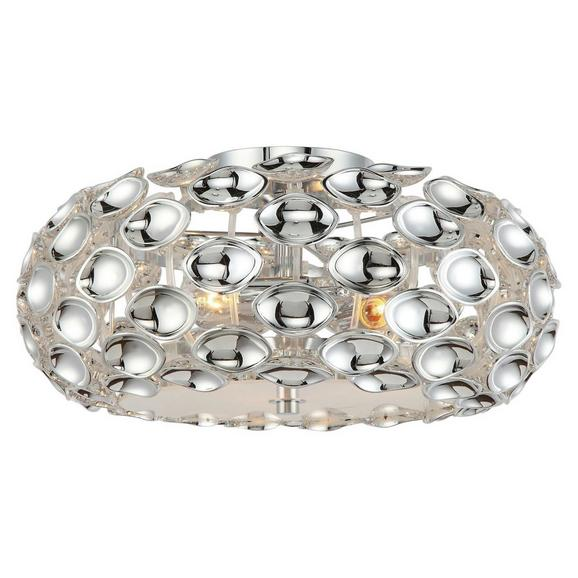 Mennyezeti Lámpa Cathy - Króm, Lifestyle, Műanyag/Fém (47/21cm) - Premium Living