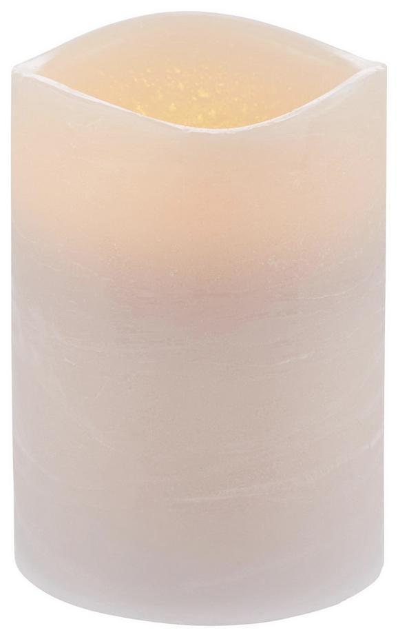 Kerze mit Led Leonie Taupe - Taupe (7,5/10cm) - Mömax modern living