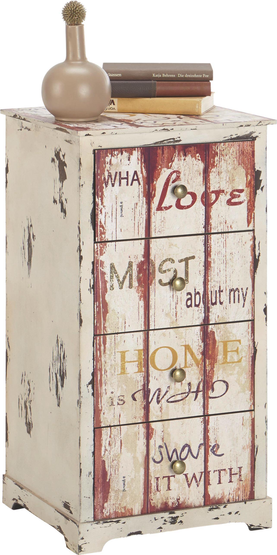 Komód Love 3 - multicolor, fa (40/76/35cm)