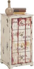 Komód Love 3 - Színes, Fa (40/76/35cm)