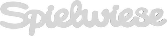 Dekobuchstaben Spielwiese in Weiß - Weiß, MODERN, Holzwerkstoff (88/17,5/1,2cm) - Mömax modern living