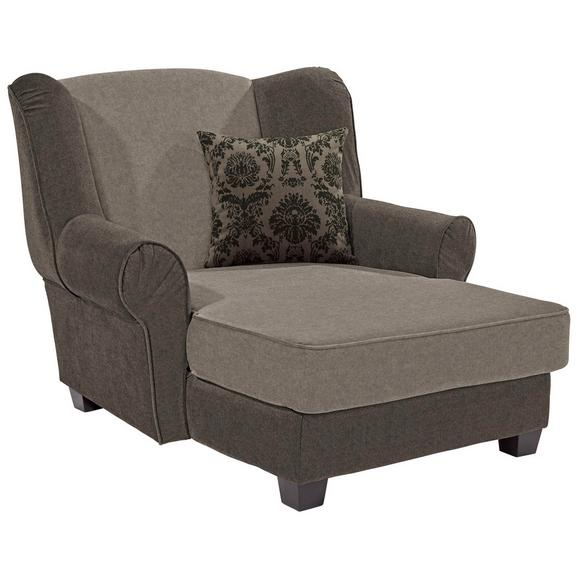 Fotelja Living - tamno smeđa/svijetlo smeđa, Romantik / Landhaus, drvo/tekstil (120/98/138cm)