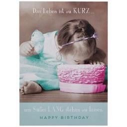 Postkarte Happy Birthday - Multicolor, Papier (10,5/14,8cm)