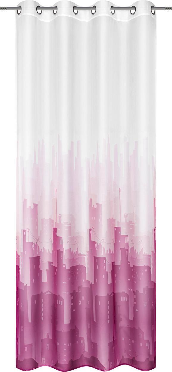 Készfüggöny City - pink/kék, Textil (140/245cm) - Mömax modern living