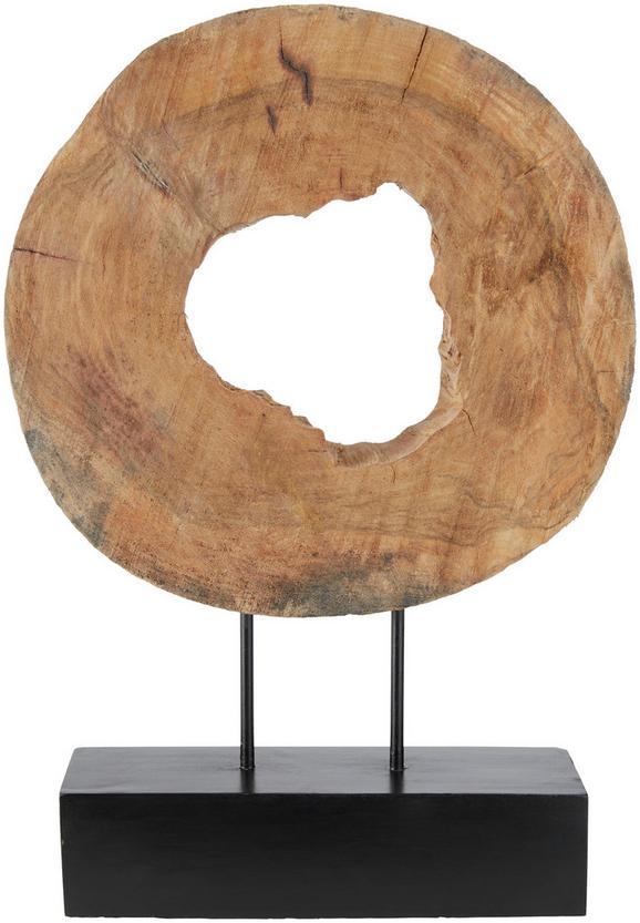 Skulptura Shanter - naravna/črna, Romantika, kovina/les (38/52/8cm) - Mömax modern living