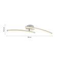 Led  Mennyezeti Lámpa Holla - Nikkel/Áttetsző, romantikus/Landhaus, Műanyag/Fém (59/10/10cm) - Modern Living