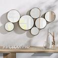 Wanddeko Mira Goldfarben - Goldfarben, Glas/Metall (93/49/6cm) - Mömax modern living