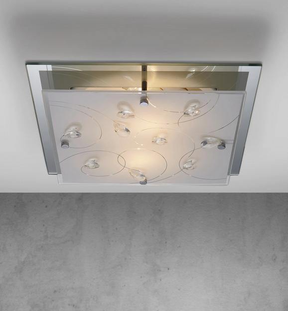 Deckenleuchte Benn 2-flammig - Weiß, MODERN, Glas/Metall (33,5/33,5/7cm) - Mömax modern living