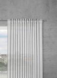 Končana Zavesa Sigrid -top- - siva, Romantika, tekstil (140/245cm) - Premium Living