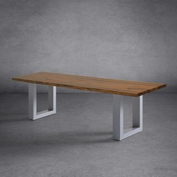 SITZBANK 'Mailo' aus Akazienholz - Hellgrau/Akaziefarben, MODERN, Holz/Metall (160/40/42cm) - Bessagi Garden