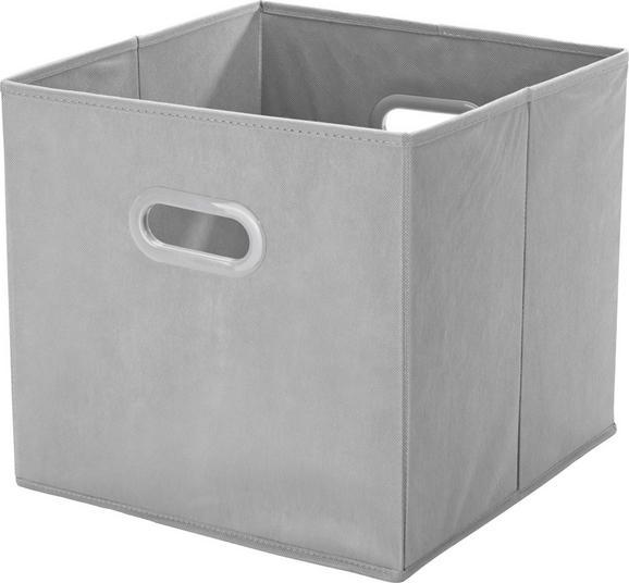 Tárolódoboz Elli - Szürke, konvencionális, Karton/Műanyag (33/33/32cm) - Mömax modern living