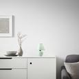 Veioză Irma - verde mentă, Romantik / Landhaus, ceramică/textil (18/25cm) - Modern Living