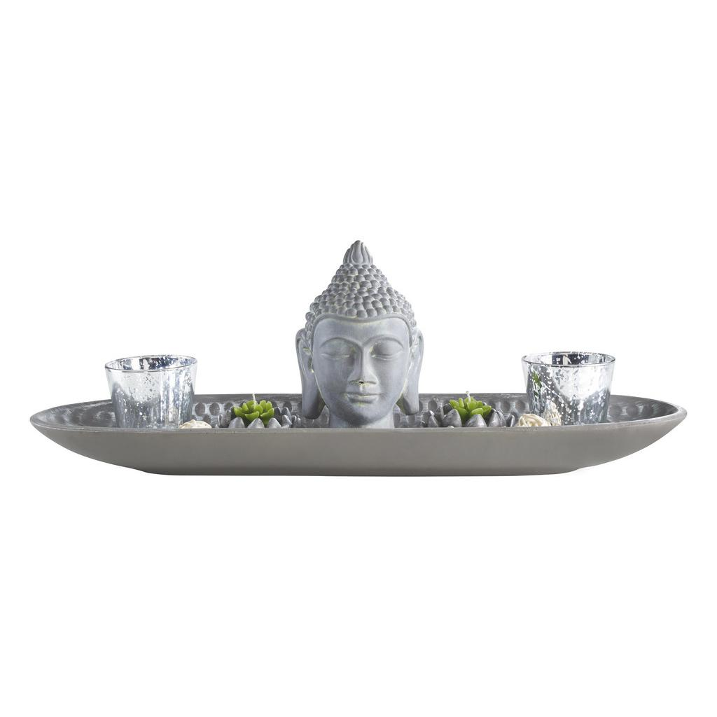 Teelichthalter Simi Grau