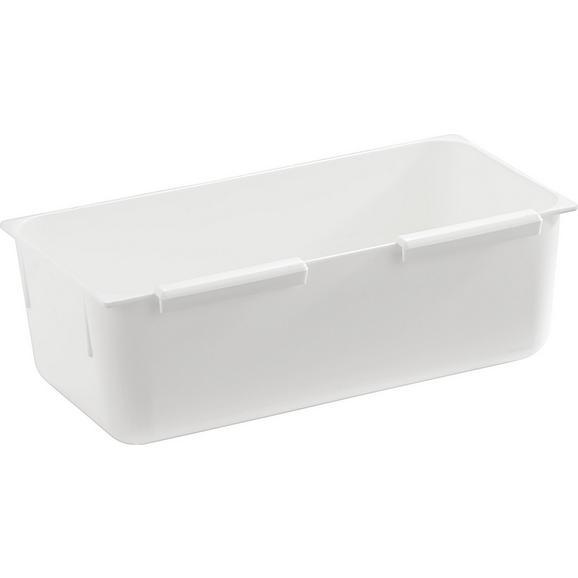 Besteckeinsatz Wanda Weiß - Weiß, Kunststoff (7,5/15cm) - Mömax modern living