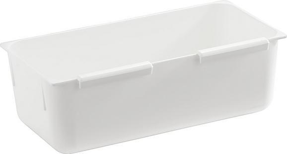 Tárolodoboz Műanyag - Fehér, Műanyag (7,5/15cm)