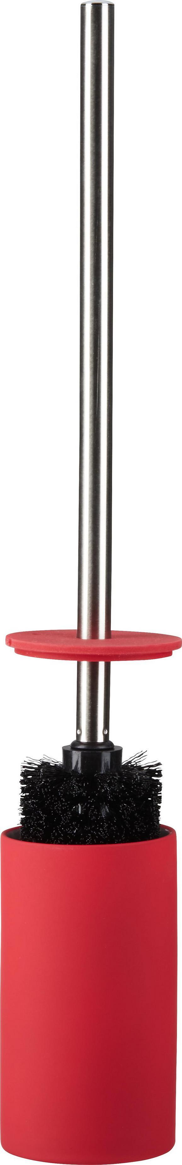 WC-Bürste Melanie in Rot - Silberfarben, Kunststoff/Metall (8/45cm) - Mömax modern living