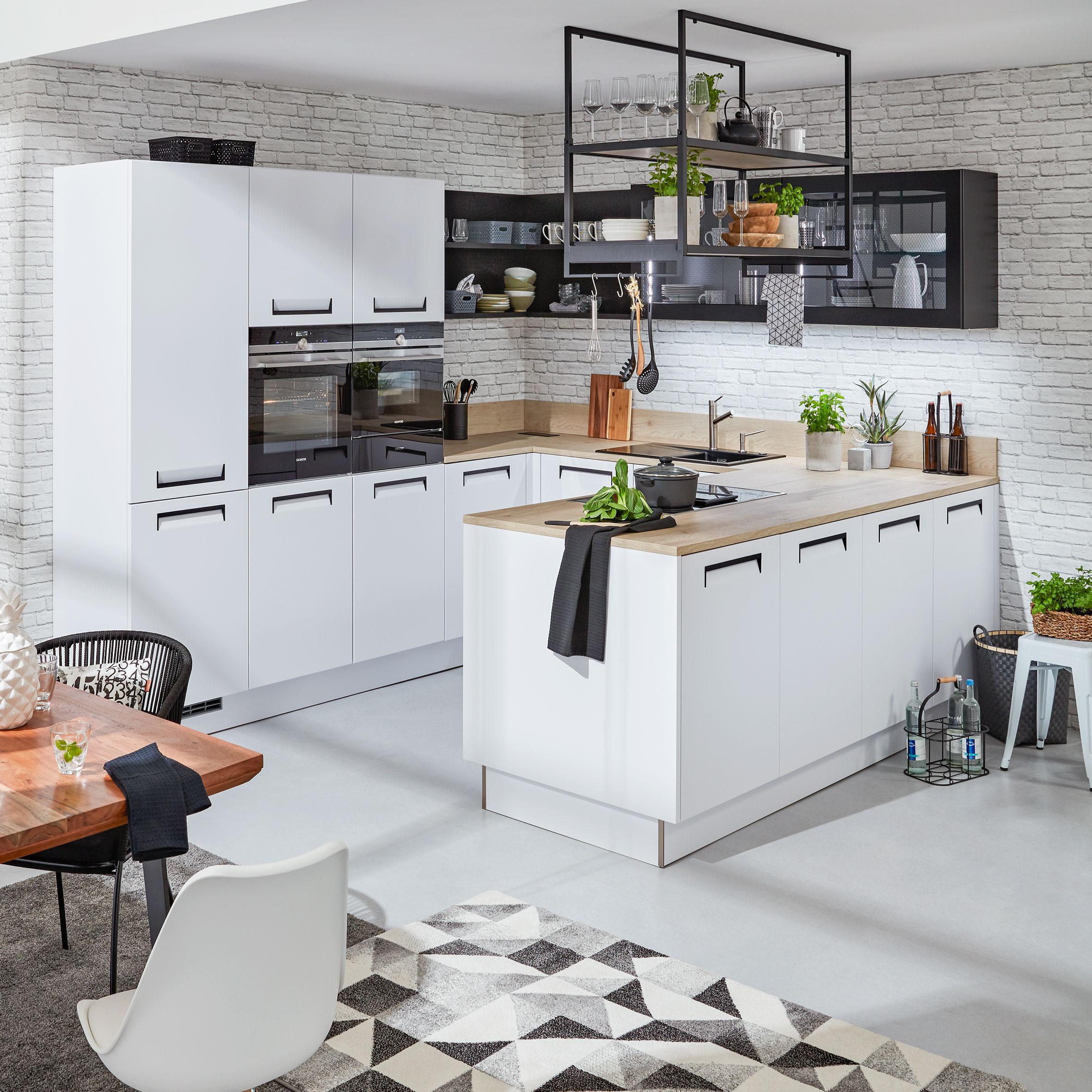 Charmant Einbauküche Nolte Integra Weiß   Weiß (305/290cm)   Nolte Küchen