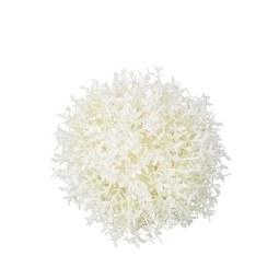 Kunstpflanze Thymiankugel in Weiß Ø ca.13cm - Weiß, Basics, Kunststoff (13cm)