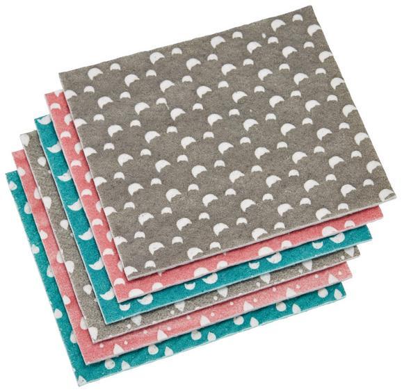 Schwammtuch Paula Grau/rosa/opla - Opal/Rosa, MODERN, Kunststoff (18/20/2cm) - Mömax modern living