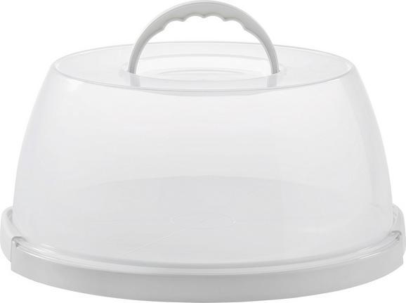 Tortenglocke Bettina in Weiß/transparent - Transparent/Weiß, Kunststoff (32,0/14,9cm) - MÖMAX modern living