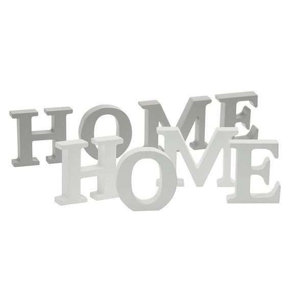 Dekobuchstaben Home/Love/Dream - Weiß/Grau, ROMANTIK / LANDHAUS, Holz (34,5/8/2cm) - Mömax modern living