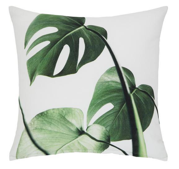 Zierkissen Amazonas Grün/Weiß, 45x45 cm - Weiß/Grün, Textil (45/45cm) - Mömax modern living