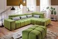 Funkcijska Sedežna Garnitura Malta - siva/olivno zelena , Moderno, tekstil (295/228cm) - Premium Living