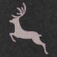 Holzkorb Hirsch - Anthrazit, ROMANTIK / LANDHAUS, Textil (39/40/34cm) - Mömax modern living