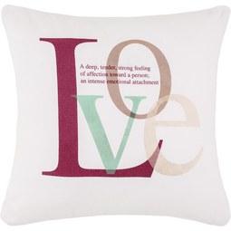 Zierkissen Love Bunt in Weiß ca. 45x45cm - Weiß, KONVENTIONELL, Textil (45/45cm) - Mömax modern living