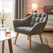 Sessel Monique - Grau, MODERN, Holz/Textil (83/76/74,5cm) - Mömax modern living