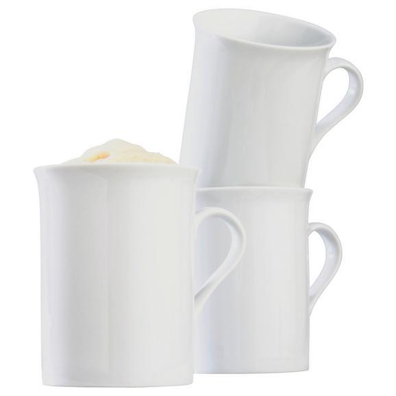 Cană Pentru Cafea Adria - alb, Konventionell, ceramică (255ml) - Modern Living