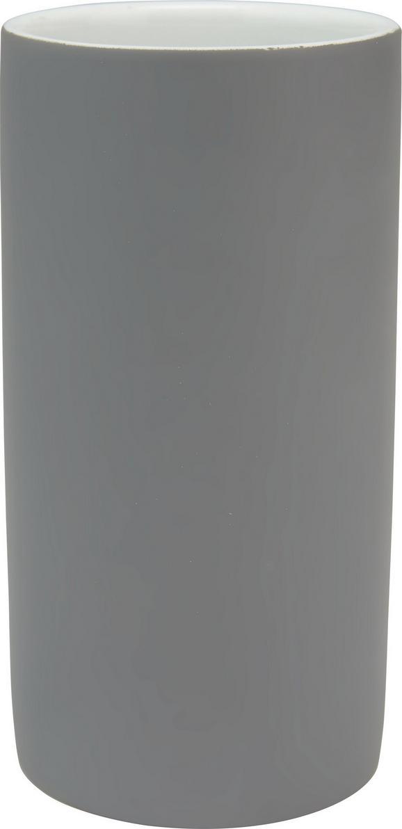 Zahnputzbecher Melanie in Anthrazit, Keramik - Anthrazit, KONVENTIONELL, Keramik (6,5/12cm) - Mömax modern living