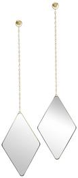 Wanddeko Dima Goldfarben - Goldfarben, Glas/Metall (28,7/17,7/1,6cm) - Mömax modern living