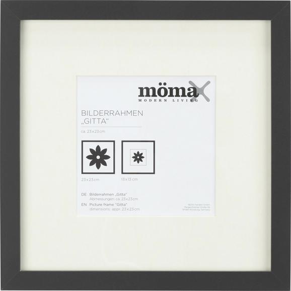 Bilderrahmen Gitta Schwarz ca. 23x23cm - Schwarz, MODERN, Glas/Holz (23/23cm) - Mömax modern living
